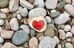 Painted Rock with Heart at Grand River Regional Cancer Centre, Kitchener