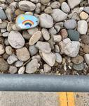 Painted Rock with a Rainbow at Grand River Regional Cancer Centre, Kitchener