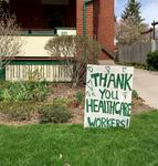 Sign Thanking Healthcare Workers, Kitchener
