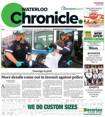 Waterloo Chronicle, 8 Jun 2017