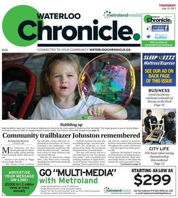 Waterloo Chronicle, 13 Jul 2017