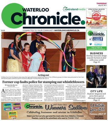 Waterloo Chronicle, 20 Jul 2017