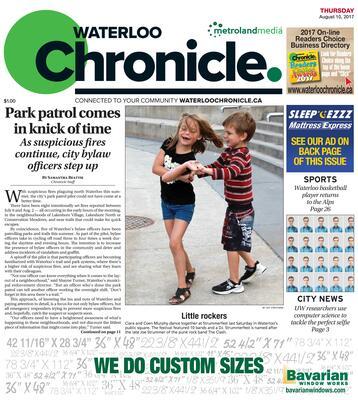 Waterloo Chronicle, 10 Aug 2017