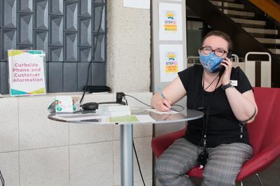 Answering Curbside Calls at Waterloo Public Library, Waterloo