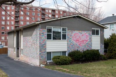 Chalk Heart on Apartment Building, Waterloo