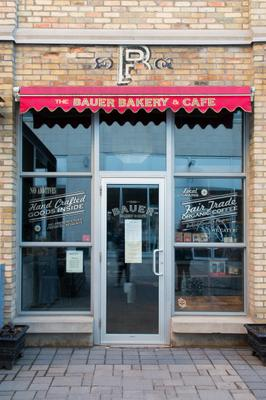 The Bauer Bakery and Cafe Closed Letter in Window, Waterloo