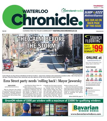 Waterloo Chronicle, 1 Mar 2018
