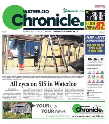 Waterloo Chronicle, 8 Mar 2018