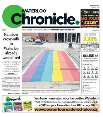 Waterloo Chronicle, 7 Jun 2018