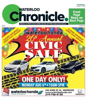 Waterloo Chronicle, 2 Aug 2018