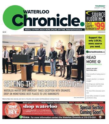 Waterloo Chronicle, 9 Aug 2018