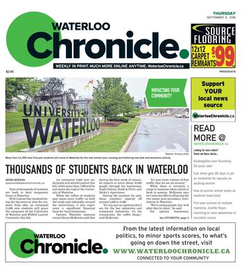 Waterloo Chronicle, 6 Sep 2018