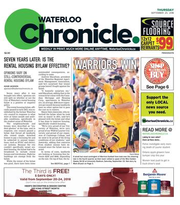 Waterloo Chronicle, 20 Sep 2018