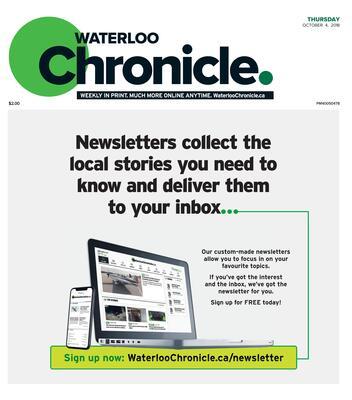 Waterloo Chronicle, 4 Oct 2018