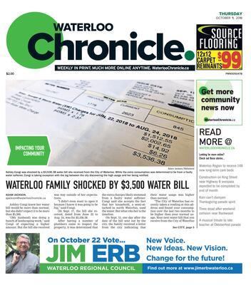 Waterloo Chronicle, 11 Oct 2018