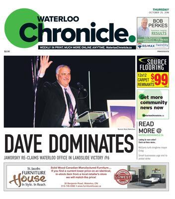 Waterloo Chronicle, 25 Oct 2018
