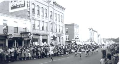 Female Marching Band, King Street, Waterloo, Ontario