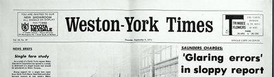 Weston-York Times