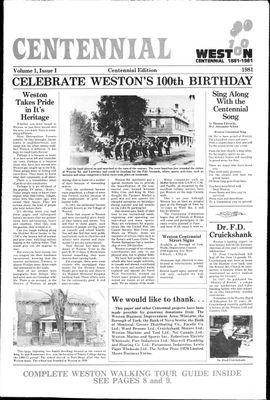 Weston News Centennial Edition (198101), 1 Jan 1981