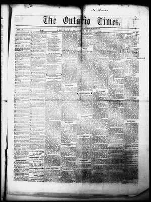 Ontario Times, 30 Apr 1859