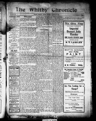 Whitby Chronicle, 28 Mar 1912