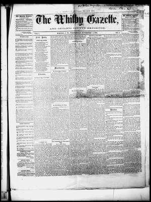 Whitby Gazette, 5 Nov 1862