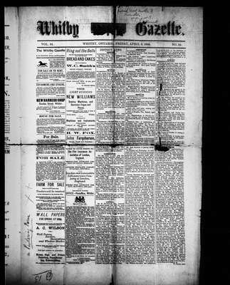 Whitby Gazette, 9 Apr 1886