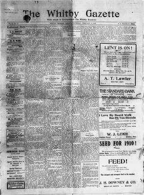 Whitby Gazette, 17 Feb 1910