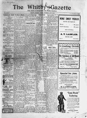 Whitby Gazette, 6 Jul 1911