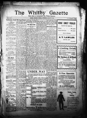 Whitby Gazette, 17 Aug 1911