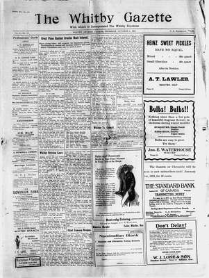 Whitby Gazette, 5 Oct 1911
