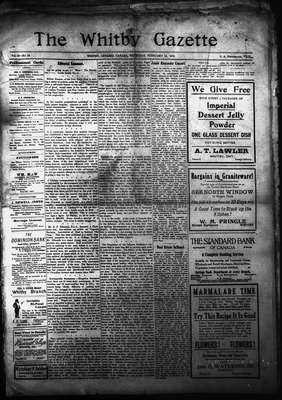 Whitby Gazette, 15 Feb 1912