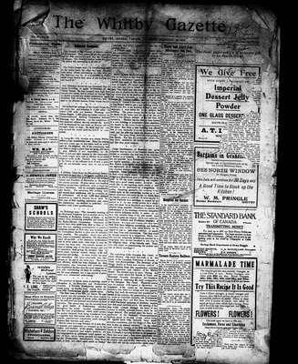Whitby Gazette, 29 Feb 1912