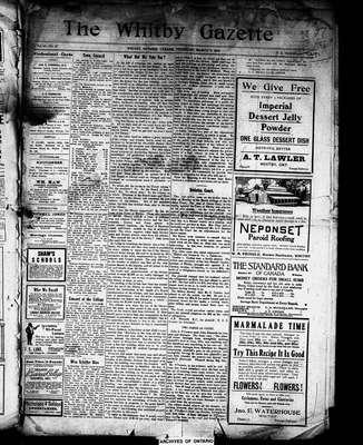 Whitby Gazette, 7 Mar 1912
