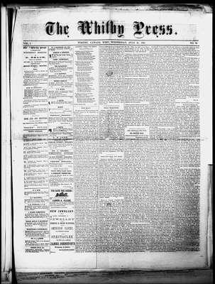 Whitby Press, 31 Jul 1861