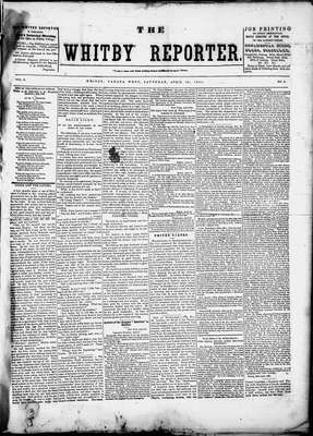 Whitby Reporter, 26 Apr 1851