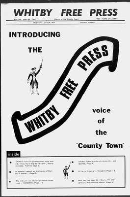 Whitby Free Press, 30 Jun 1971