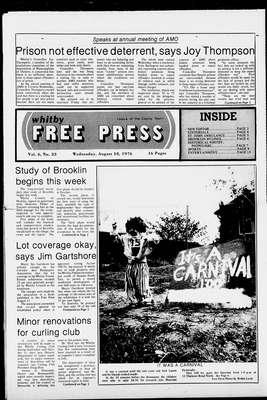 Whitby Free Press, 18 Aug 1976