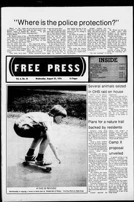 Whitby Free Press, 25 Aug 1976