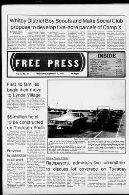 Whitby Free Press, 1 Sep 1976