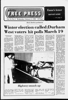 Whitby Free Press, 4 Feb 1981