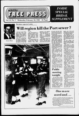 Whitby Free Press, 18 Feb 1981