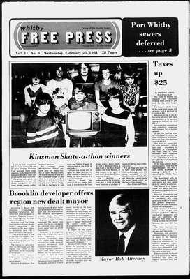 Whitby Free Press, 25 Feb 1981