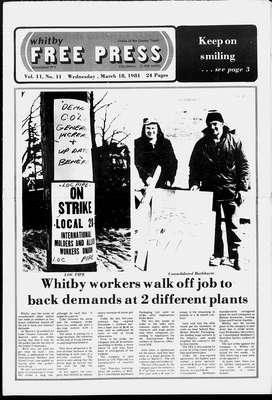 Whitby Free Press, 18 Mar 1981