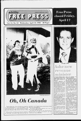 Whitby Free Press, 15 Apr 1981