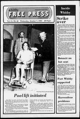 Whitby Free Press, 7 Oct 1981