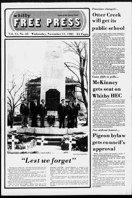 Whitby Free Press, 11 Nov 1981