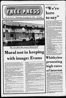 Whitby Free Press, 25 Nov 1981