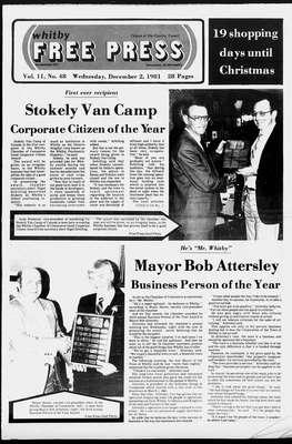 Whitby Free Press, 2 Dec 1981