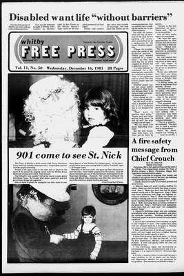 Whitby Free Press, 16 Dec 1981